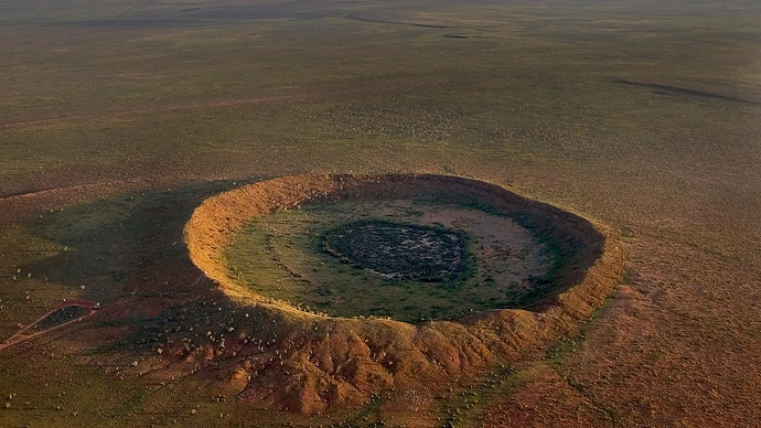 Meteorite impact crater near Halls Creek, Western Australia Picture by Randy Olson/National Geographic Creative/Getty Images