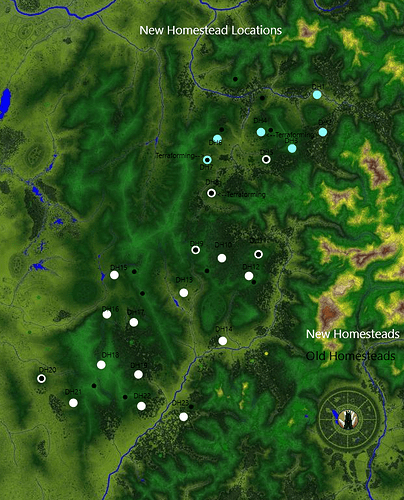 New Homestead Locations
